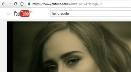 Buscar musica Adele Hello en Youtube