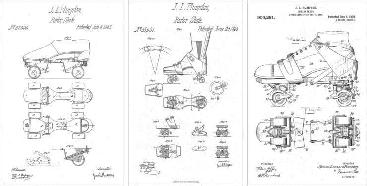 patente patines de James Leonard Plimpton