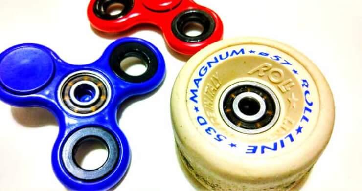 fidget spinner rueda patines