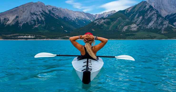 disfrutar de las vacaciones en kayak