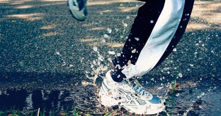 practicando deporte con lluvia