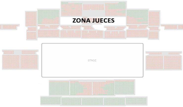 asientos del europeo de grupo show y precisión