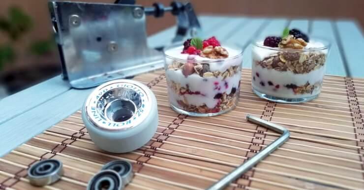 alimentacion desayuno perfecto niños patinaje deporte