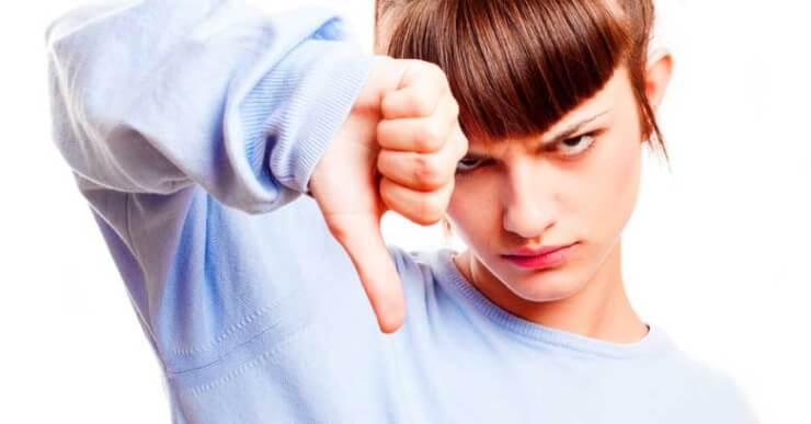 evitar en competicion chica negacion