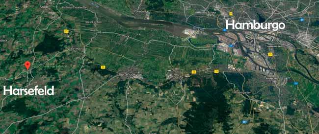 Localización de Harsefeld